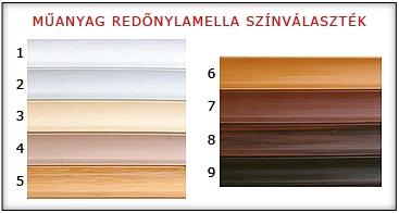 redőny lamella színek1